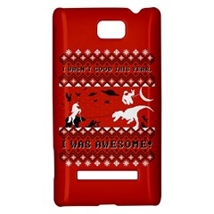 I Wasn t Good This Year, I Was Awesome! Ugly Holiday Christmas Red Background HTC 8S Hardshell Case