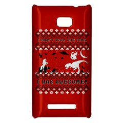I Wasn t Good This Year, I Was Awesome! Ugly Holiday Christmas Red Background HTC 8X