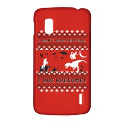 I Wasn t Good This Year, I Was Awesome! Ugly Holiday Christmas Red Background LG Nexus 4