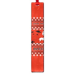 I Wasn t Good This Year, I Was Awesome! Ugly Holiday Christmas Red Background Large Book Marks