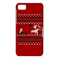 I Wasn t Good This Year, I Was Awesome! Ugly Holiday Christmas Red Background BlackBerry Z10