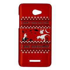 I Wasn t Good This Year, I Was Awesome! Ugly Holiday Christmas Red Background HTC Butterfly X920E Hardshell Case