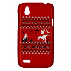 I Wasn t Good This Year, I Was Awesome! Ugly Holiday Christmas Red Background HTC Desire V (T328W) Hardshell Case