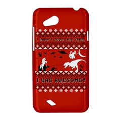 I Wasn t Good This Year, I Was Awesome! Ugly Holiday Christmas Red Background HTC Desire VC (T328D) Hardshell Case