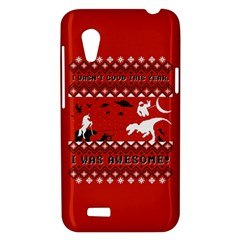 I Wasn t Good This Year, I Was Awesome! Ugly Holiday Christmas Red Background HTC Desire VT (T328T) Hardshell Case