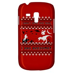 I Wasn t Good This Year, I Was Awesome! Ugly Holiday Christmas Red Background Samsung Galaxy S3 MINI I8190 Hardshell Case