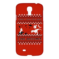 I Wasn t Good This Year, I Was Awesome! Ugly Holiday Christmas Red Background Samsung Galaxy S4 I9500/I9505 Hardshell Case