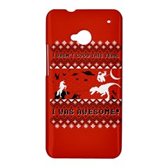 I Wasn t Good This Year, I Was Awesome! Ugly Holiday Christmas Red Background HTC One M7 Hardshell Case