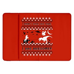 I Wasn t Good This Year, I Was Awesome! Ugly Holiday Christmas Red Background Samsung Galaxy Tab 8.9  P7300 Flip Case