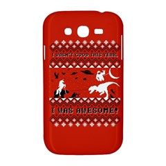 I Wasn t Good This Year, I Was Awesome! Ugly Holiday Christmas Red Background Samsung Galaxy Grand DUOS I9082 Hardshell Case