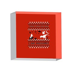 I Wasn t Good This Year, I Was Awesome! Ugly Holiday Christmas Red Background 4 x 4  Acrylic Photo Blocks