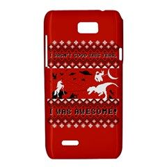 I Wasn t Good This Year, I Was Awesome! Ugly Holiday Christmas Red Background Motorola XT788