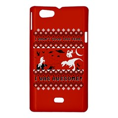 I Wasn t Good This Year, I Was Awesome! Ugly Holiday Christmas Red Background Sony Xperia Miro