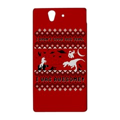 I Wasn t Good This Year, I Was Awesome! Ugly Holiday Christmas Red Background Sony Xperia Z