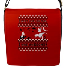 I Wasn t Good This Year, I Was Awesome! Ugly Holiday Christmas Red Background Flap Messenger Bag (S)