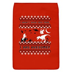 I Wasn t Good This Year, I Was Awesome! Ugly Holiday Christmas Red Background Flap Covers (S)