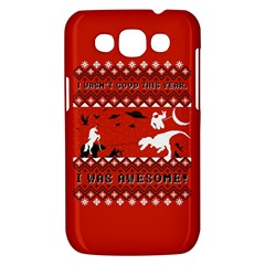 I Wasn t Good This Year, I Was Awesome! Ugly Holiday Christmas Red Background Samsung Galaxy Win I8550 Hardshell Case
