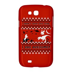 I Wasn t Good This Year, I Was Awesome! Ugly Holiday Christmas Red Background Samsung Galaxy Grand GT-I9128 Hardshell Case