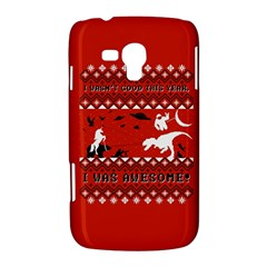 I Wasn t Good This Year, I Was Awesome! Ugly Holiday Christmas Red Background Samsung Galaxy Duos I8262 Hardshell Case