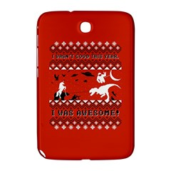 I Wasn t Good This Year, I Was Awesome! Ugly Holiday Christmas Red Background Samsung Galaxy Note 8.0 N5100 Hardshell Case