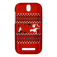 I Wasn t Good This Year, I Was Awesome! Ugly Holiday Christmas Red Background HTC One SV Hardshell Case