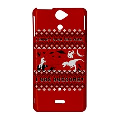 I Wasn t Good This Year, I Was Awesome! Ugly Holiday Christmas Red Background Sony Xperia V