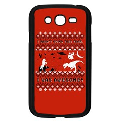 I Wasn t Good This Year, I Was Awesome! Ugly Holiday Christmas Red Background Samsung Galaxy Grand DUOS I9082 Case (Black)