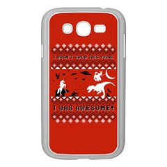 I Wasn t Good This Year, I Was Awesome! Ugly Holiday Christmas Red Background Samsung Galaxy Grand DUOS I9082 Case (White)
