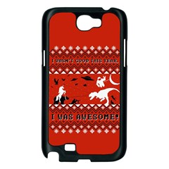 I Wasn t Good This Year, I Was Awesome! Ugly Holiday Christmas Red Background Samsung Galaxy Note 2 Case (Black)