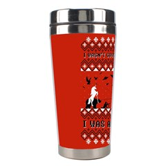 I Wasn t Good This Year, I Was Awesome! Ugly Holiday Christmas Red Background Stainless Steel Travel Tumblers