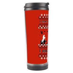 I Wasn t Good This Year, I Was Awesome! Ugly Holiday Christmas Red Background Travel Tumbler