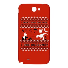 I Wasn t Good This Year, I Was Awesome! Ugly Holiday Christmas Red Background Samsung Note 2 N7100 Hardshell Back Case