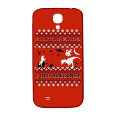 I Wasn t Good This Year, I Was Awesome! Ugly Holiday Christmas Red Background Samsung Galaxy S4 I9500/I9505  Hardshell Back Case