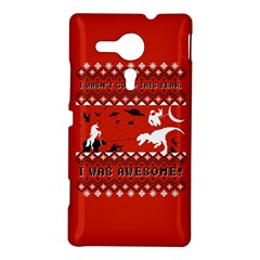 I Wasn t Good This Year, I Was Awesome! Ugly Holiday Christmas Red Background Sony Xperia SP