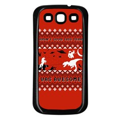 I Wasn t Good This Year, I Was Awesome! Ugly Holiday Christmas Red Background Samsung Galaxy S3 Back Case (Black)