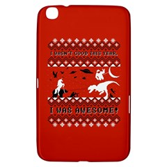 I Wasn t Good This Year, I Was Awesome! Ugly Holiday Christmas Red Background Samsung Galaxy Tab 3 (8 ) T3100 Hardshell Case