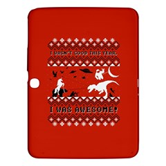 I Wasn t Good This Year, I Was Awesome! Ugly Holiday Christmas Red Background Samsung Galaxy Tab 3 (10.1 ) P5200 Hardshell Case