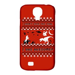I Wasn t Good This Year, I Was Awesome! Ugly Holiday Christmas Red Background Samsung Galaxy S4 Classic Hardshell Case (PC+Silicone)