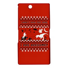 I Wasn t Good This Year, I Was Awesome! Ugly Holiday Christmas Red Background Sony Xperia Z Ultra