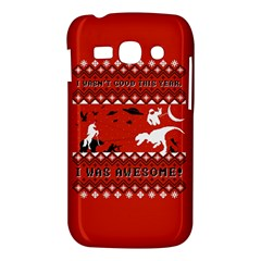 I Wasn t Good This Year, I Was Awesome! Ugly Holiday Christmas Red Background Samsung Galaxy Ace 3 S7272 Hardshell Case