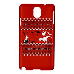 I Wasn t Good This Year, I Was Awesome! Ugly Holiday Christmas Red Background Samsung Galaxy Note 3 N9005 Hardshell Case