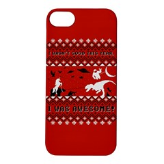 I Wasn t Good This Year, I Was Awesome! Ugly Holiday Christmas Red Background Apple iPhone 5S/ SE Hardshell Case