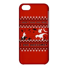 I Wasn t Good This Year, I Was Awesome! Ugly Holiday Christmas Red Background Apple iPhone 5C Hardshell Case