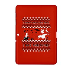 I Wasn t Good This Year, I Was Awesome! Ugly Holiday Christmas Red Background Samsung Galaxy Tab 2 (10.1 ) P5100 Hardshell Case
