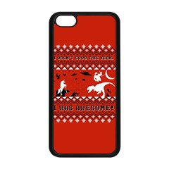 I Wasn t Good This Year, I Was Awesome! Ugly Holiday Christmas Red Background Apple iPhone 5C Seamless Case (Black)