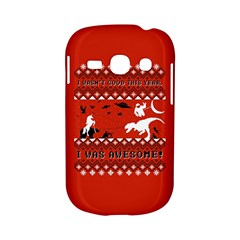 I Wasn t Good This Year, I Was Awesome! Ugly Holiday Christmas Red Background Samsung Galaxy S6810 Hardshell Case