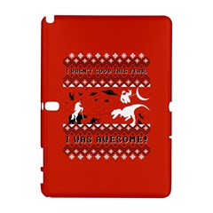 I Wasn t Good This Year, I Was Awesome! Ugly Holiday Christmas Red Background Samsung Galaxy Note 10.1 (P600) Hardshell Case
