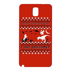 I Wasn t Good This Year, I Was Awesome! Ugly Holiday Christmas Red Background Samsung Galaxy Note 3 N9005 Hardshell Back Case