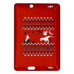 I Wasn t Good This Year, I Was Awesome! Ugly Holiday Christmas Red Background Amazon Kindle Fire HD (2013) Hardshell Case