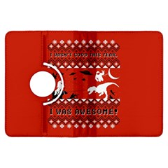 I Wasn t Good This Year, I Was Awesome! Ugly Holiday Christmas Red Background Kindle Fire HDX Flip 360 Case